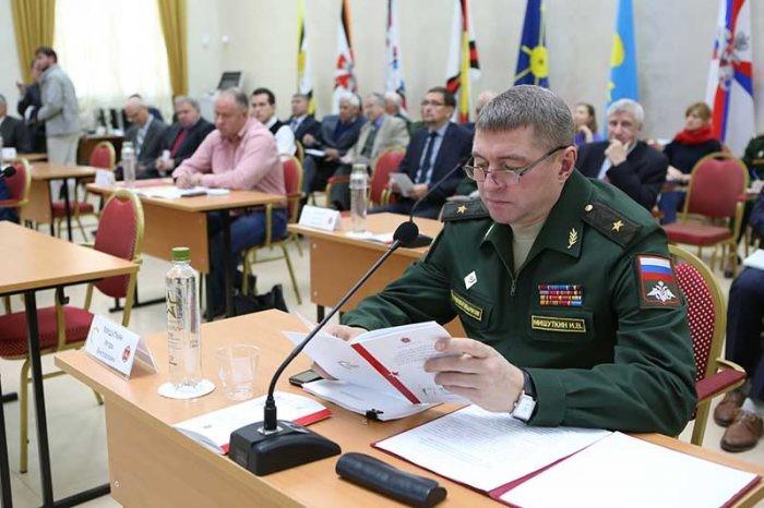 Начальник Военного университета Минобороны России генерал-майор И.В. Мишуткин
