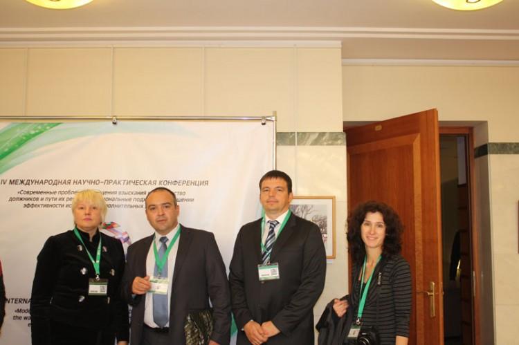 Г.Улетова и представители делегации Болгарии