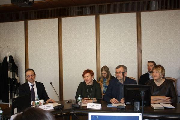 Участники круглого стола. Слева направо — Д.И. Дедов, Е.Ю. Киреева, Н.В. Самсонов, Г.Д. Улетова
